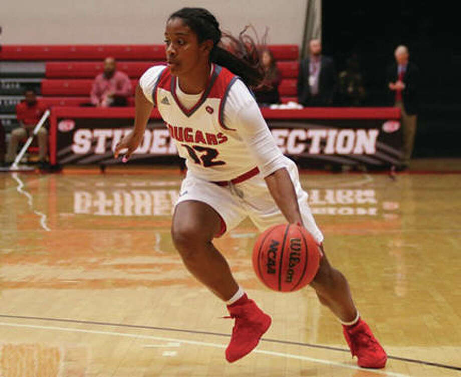 SIUE senior Lauren White was named to the all-tournament team at the Florida Gulf Coast Hilton Garden Inn Classic on Thursday in Fort Myers, Fla. The Cougars went 0-2 on their trip to Florida. Photo: SIUE Athletics