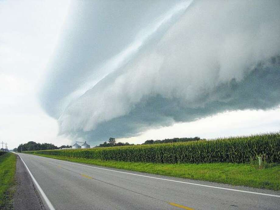 A storm cloud rolls into the New Berlin area, bringing heavy rain. Photo: David Blanchette | Journal-Courier