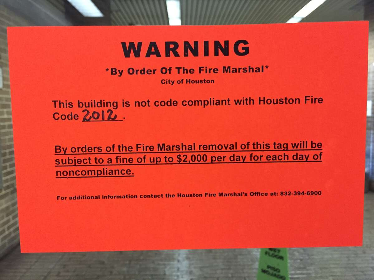 Harris County's former jail-portions of which are used for publicly accessible county offices- is the second county building to come under scrutiny for fire code violations.