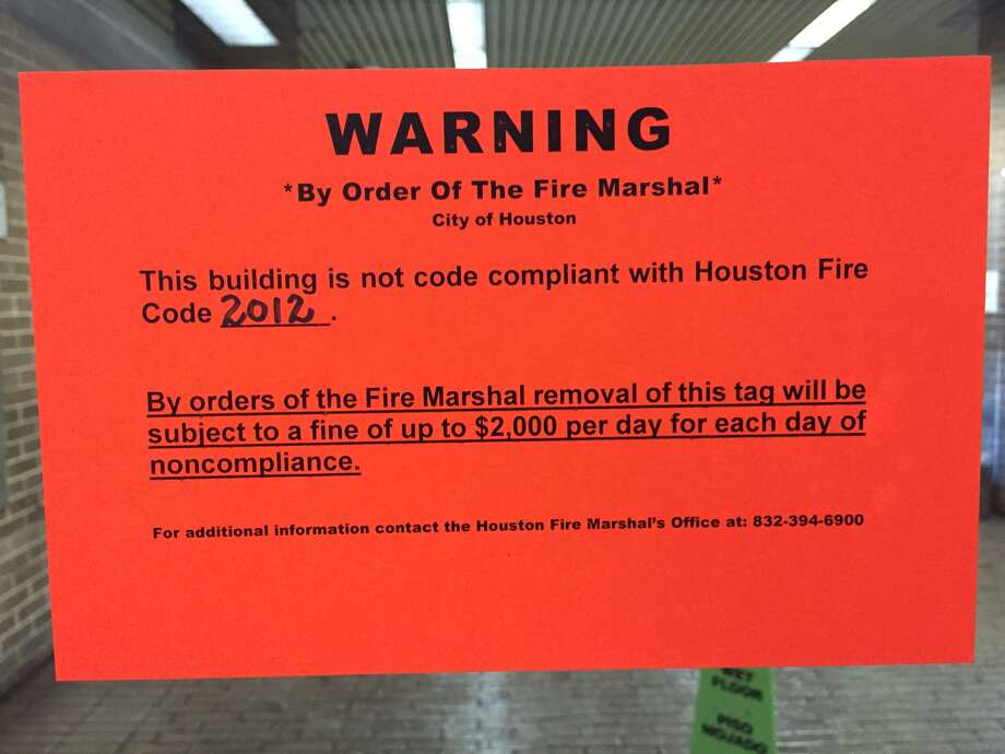Harris County's former jail—portions of which are used for publicly accessible county offices— is the second county building to come under scrutiny for fire code violations.