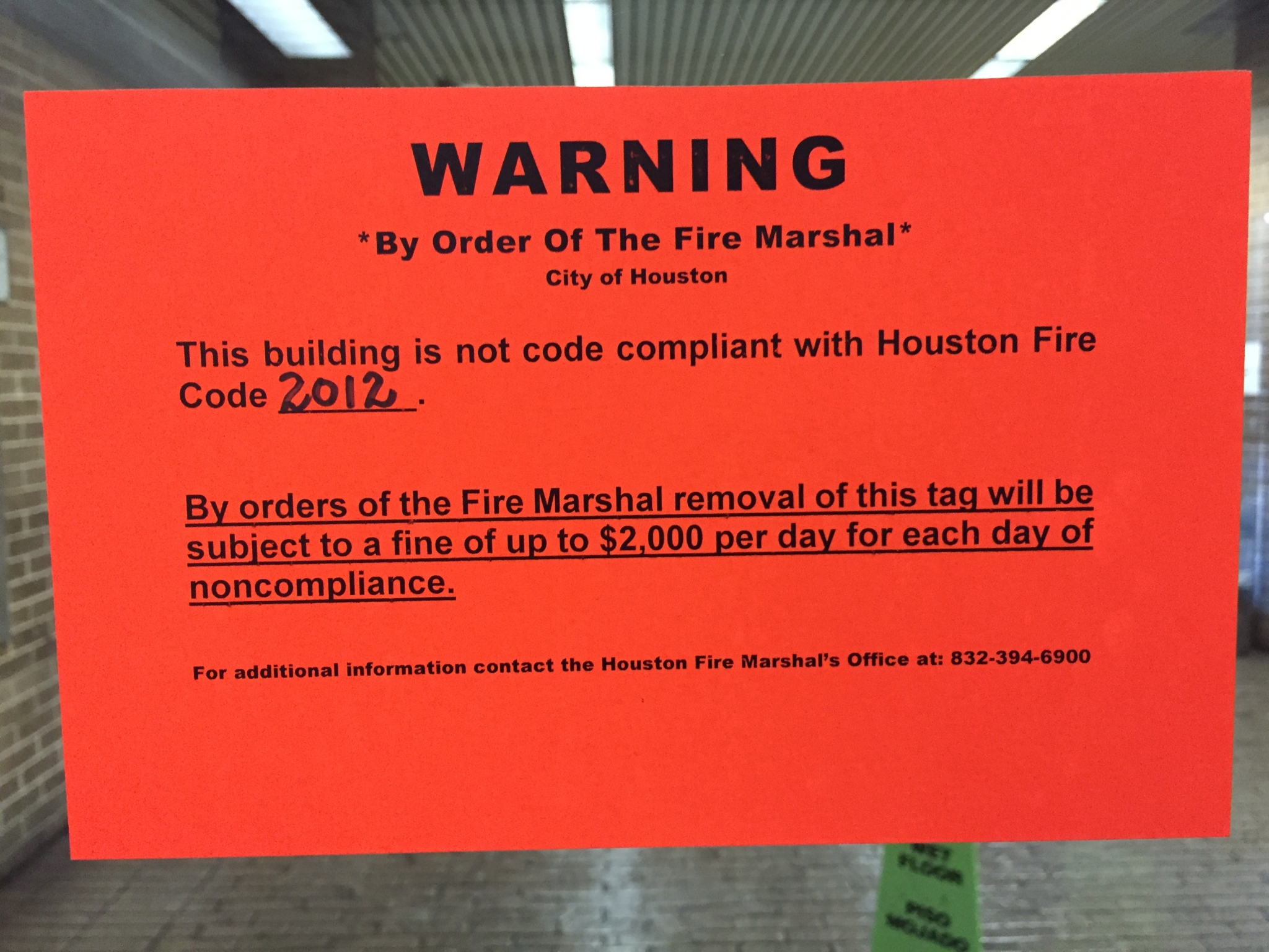 Another Harris County Building Flagged For Fire Code Violations