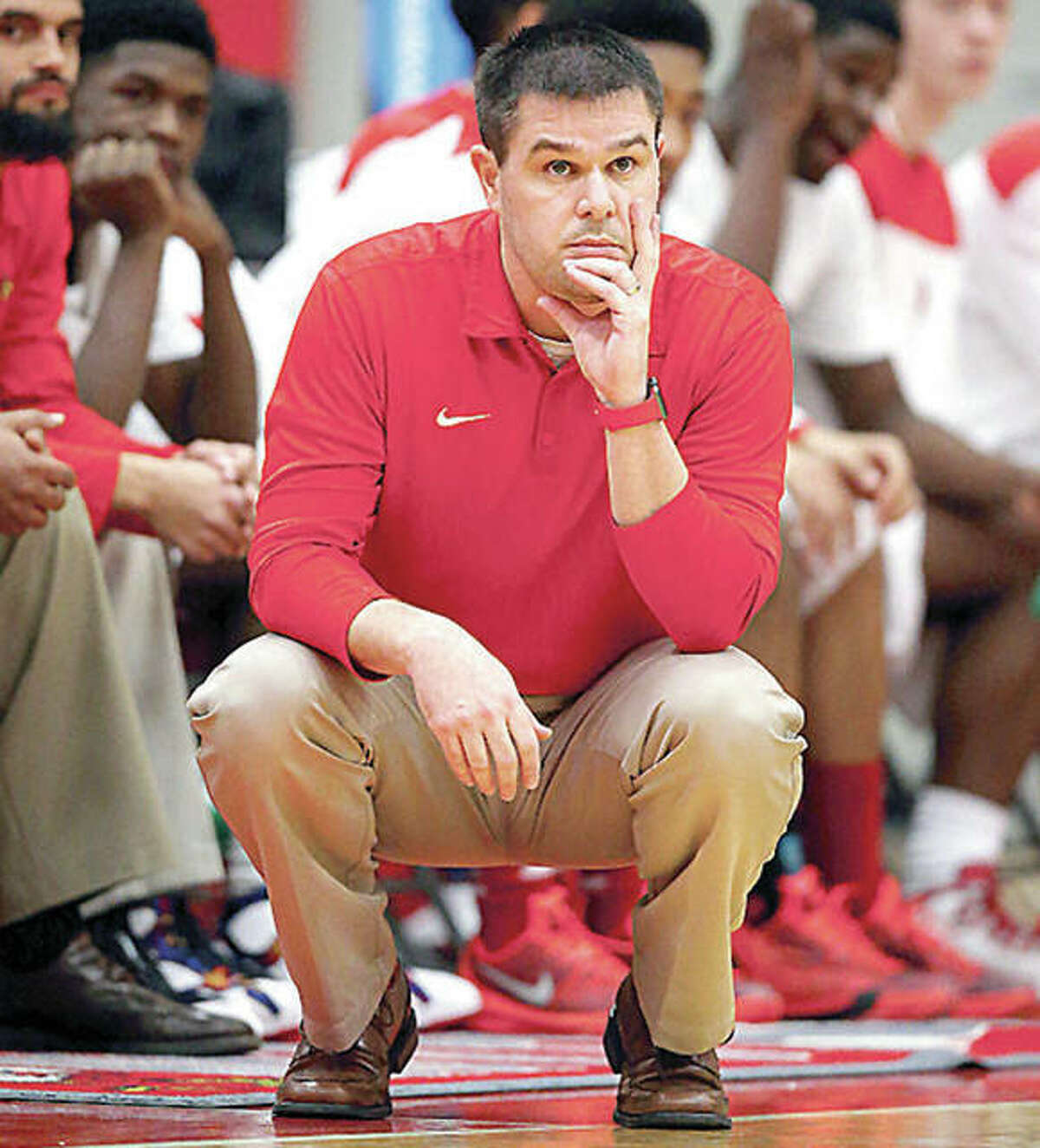 Alton coach Eric Smith's team dropped a 72-53 decision to Belleville West Saturday in the semifinals of the 75th Centralia holiday Tournament.