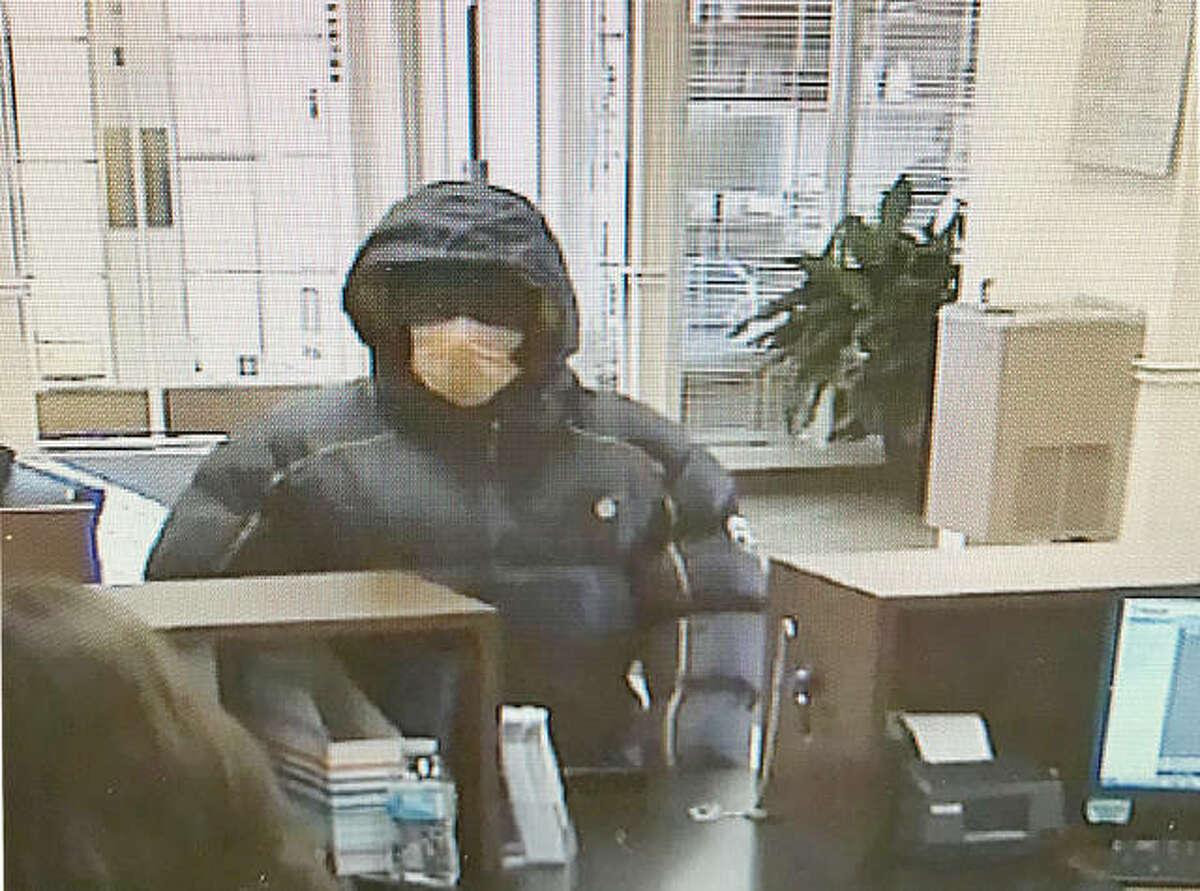 A surveillance photo of the suspect.