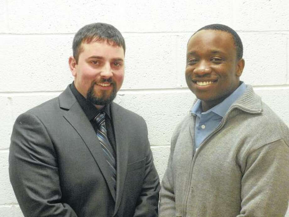 New South Roxana Police Department hires Vance Wilhelm, left, and Damarre Smith.