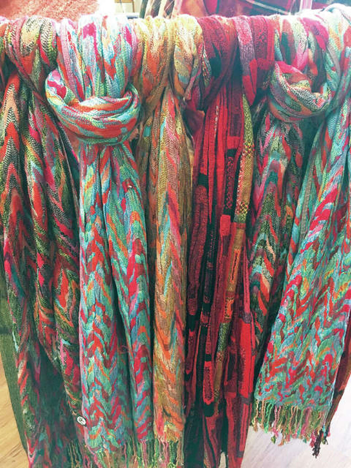 Wood River's Country Meadows carries stylish woven scarves, faux fur ponchos and much more.