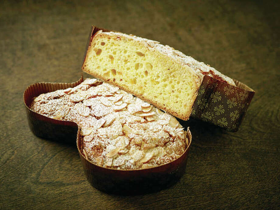 Colomba di Pasqua, a traditional Italian Easter bread, has many steps, but actual hands-on prepartion time is minimal. Photo: Phil Mansfield | The Culinary Institute Of America | AP