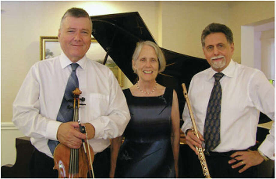 Francis Grimes (from left), Mary Jane Rupert and Peter H. Bloom make up Ensemble Aubade, a chamber music trio that is based in Boston and focuses on playing chamber music by European and American composers. Photo: Submitted Photo