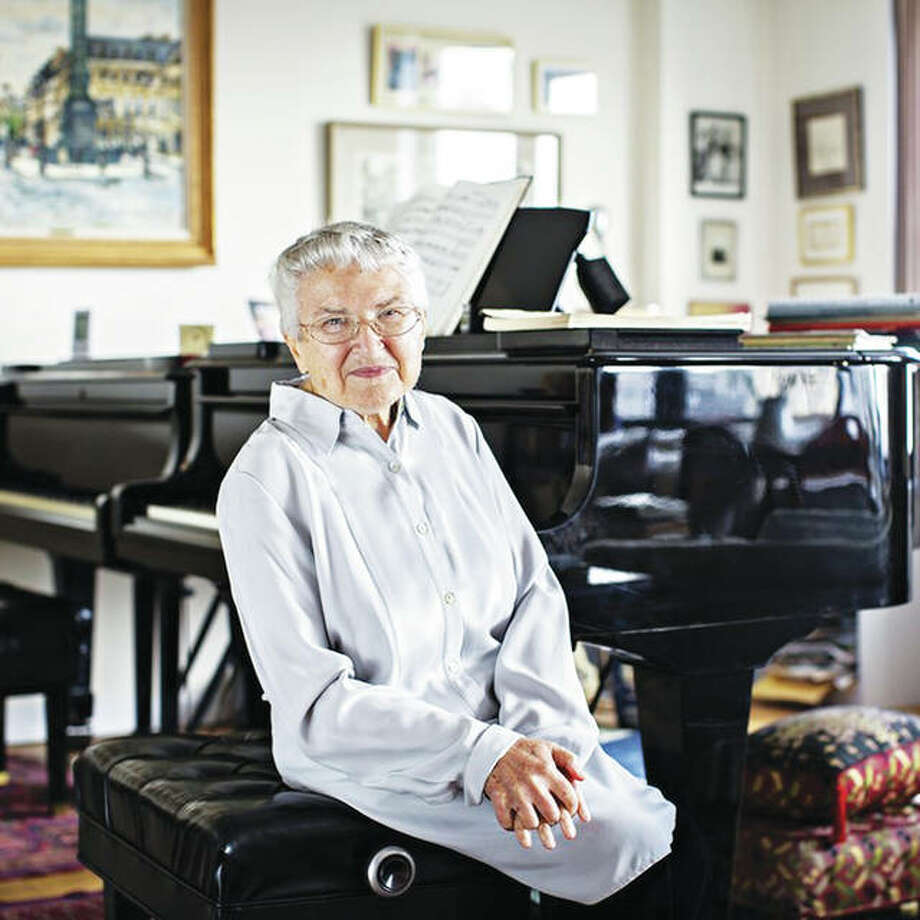 Renowned pianist and former Southern Illinois University Edwardsville artist-in-residence, Ruth Slenczynska, recently returned to SIUE, once again sharing her extraordinary talents at the keyboard to a sold-out crowd. Photo: For The Telegraph