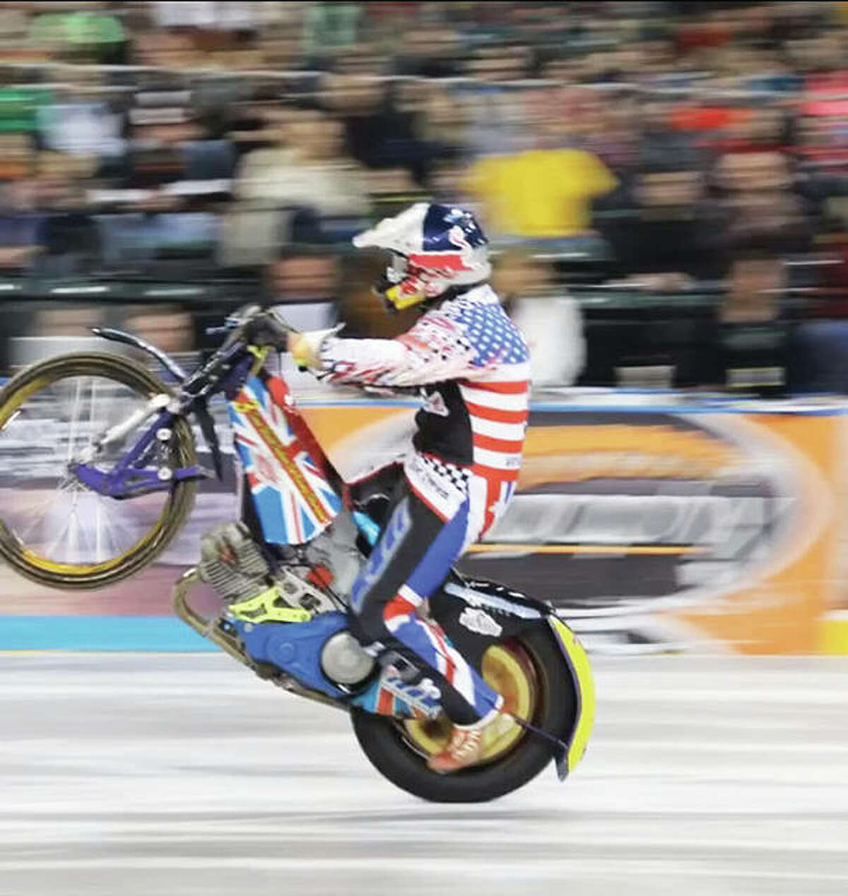"""The Xtreme International Ice Racing, or XIIR (pronounced """"X, Double I, R), is a professional motorcycle race held on ice, such as that utilized for a hockey game. Known as the world's toughest professional ice race, riders modify speedway bikes and quads to compete on an indoor ice arena."""