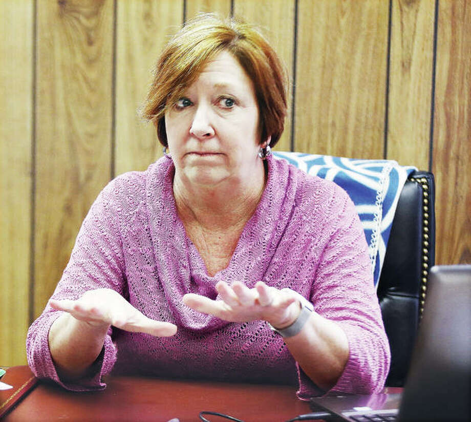 New Illinois 111th District Rep. Monica Bristow talks about her plans as she prepares for her first House session in the seat of former state Rep. Dan Beiser. Photo: John Badman | The Telegraph