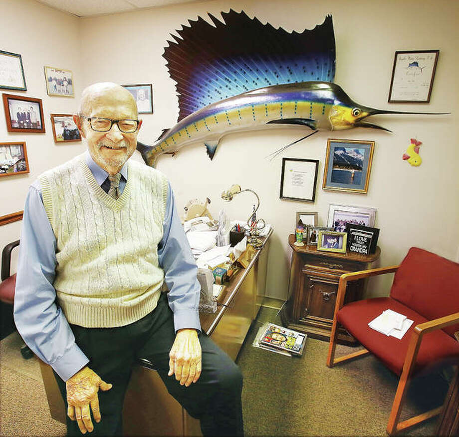 Chuck Heitz, who opened Heitz Optical in Alton in 1956, will celebrate his 95th birthday on Tuesday, Jan. 30. Heitz has been a fixture in the local optical industry since he opened his Alton business 62 years ago. Photo: John Badman | The Telegraph