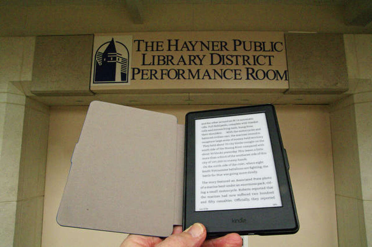 Alton's Hayner Public Library is one of the area libraries that have embraced e-book lending.