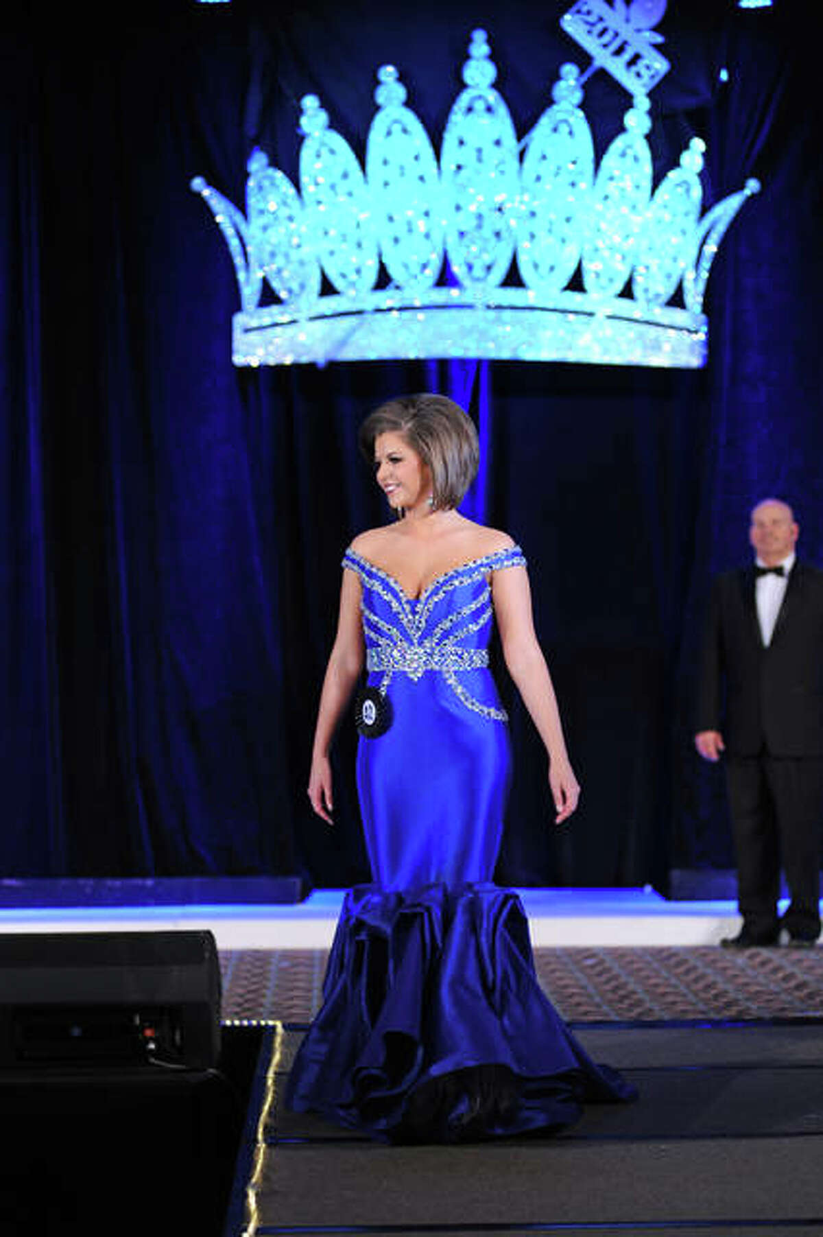 Miss Greene County Katelyn Dunlap during the evening gown competition at the pageant.