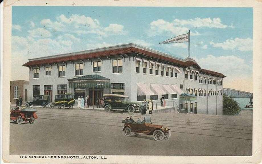 The former Mineral Springs Hotel, pictured, begins its story back in 1909, when August and Herman Luer planned on opening an ice storage facility. But, during construction they discovered a natural spring. The Luers consulted a chemist to test the water. He determined the spring had healing properties. When you have a healing spring at your fingertips, there is only one thing to do — open a spa. Photo: For The Telegraph