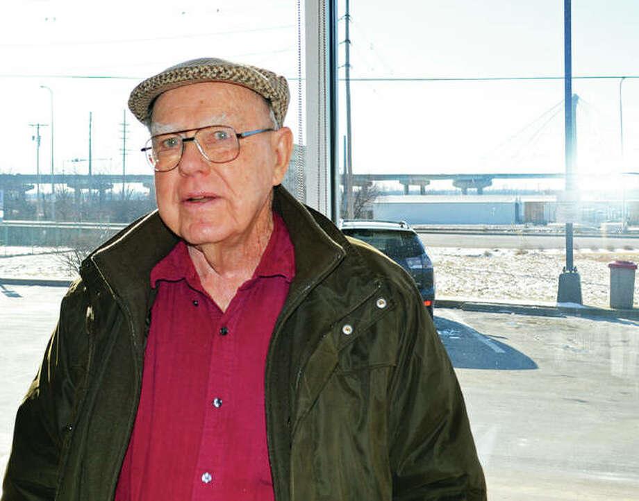Frank Muhm on a recent breakfast trip across the Clark Bridge from St. Louis to Alton.