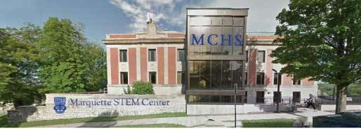 A rendering of the front of the new Marquette Catholic High School STEM facility. The expansion is expected to cost roughly $1.6 million, the fundraising for which has already begun.