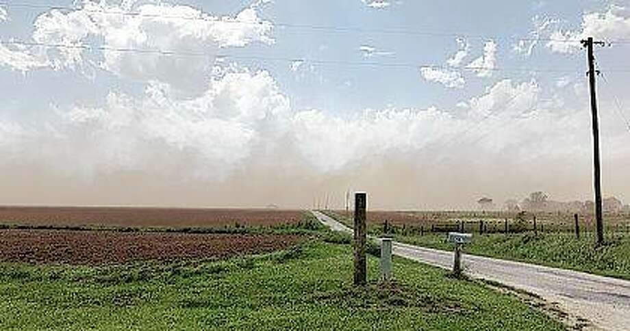 Dust rolls across fields on Beilschmidt Road off Route 123. Betty Niemann | Reader photo