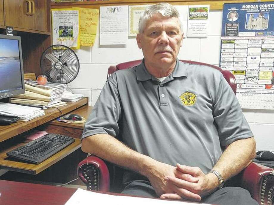Sheriff Randy Duvendack sits in his office Thursday, reflecting on a career that has spanned more than four decades.