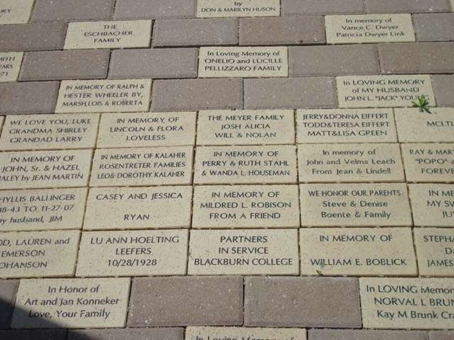 Personalized bricks bought by June 30 will be set in the patio near the entrance to Carlinville Area Hospital. Photo: Photo Provided