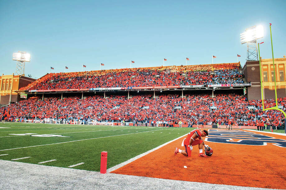 Work could begin in early 2018 on a $132 million project to build new football offices, locker rooms and training facilities at University of Illinois' Memorial Stadium and renovate seating areas on two sides, athletic director Josh Whitman said.