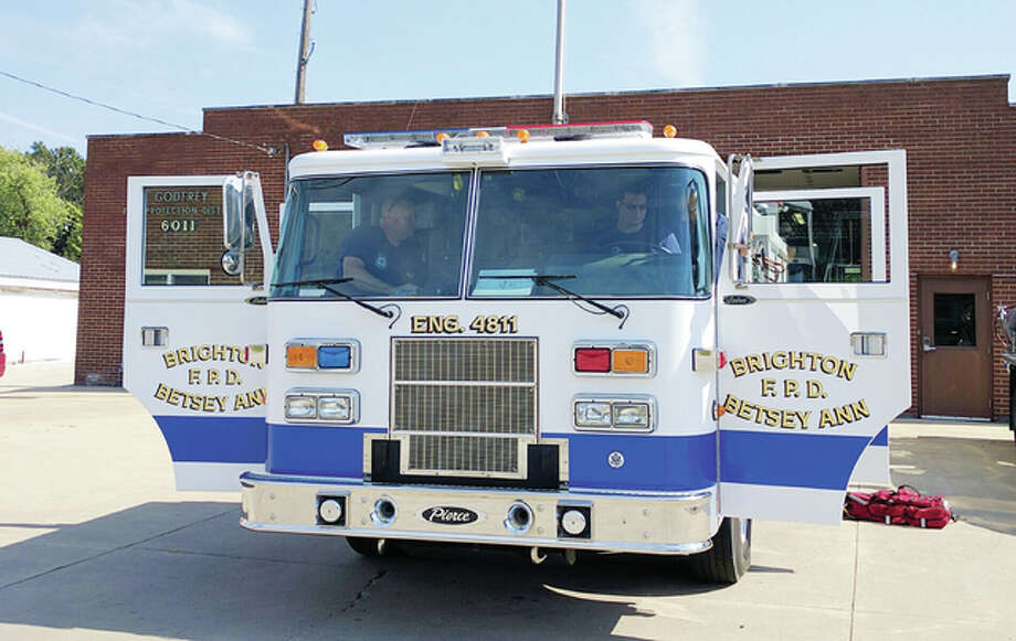 The Godfrey Fire Protection District is borrowing a pumper from the Brighton Betsey Ann Fire Protection District after two of its three pumpers went down for maintenance.