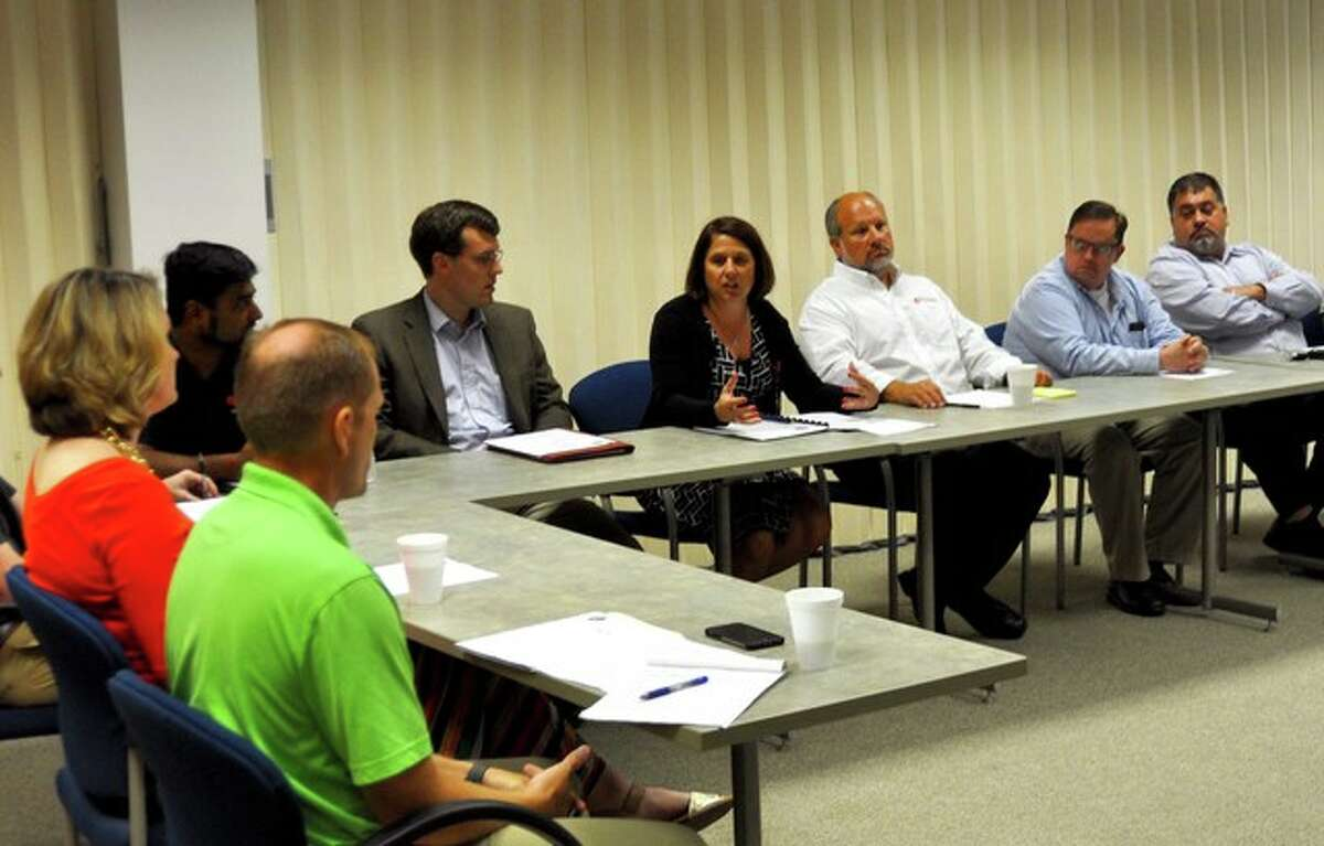 Madison County Energy Board, along with other officials, meet last week with Illinois Environmental Protection Agency (IEPA) Alec Messina to address issues affecting the county and its energy providers.