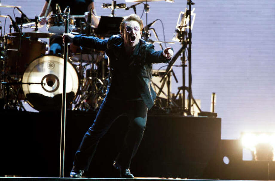 Jordan Strauss | Invision (AP) Bono of U2 performs in Pasadena, California, last month.