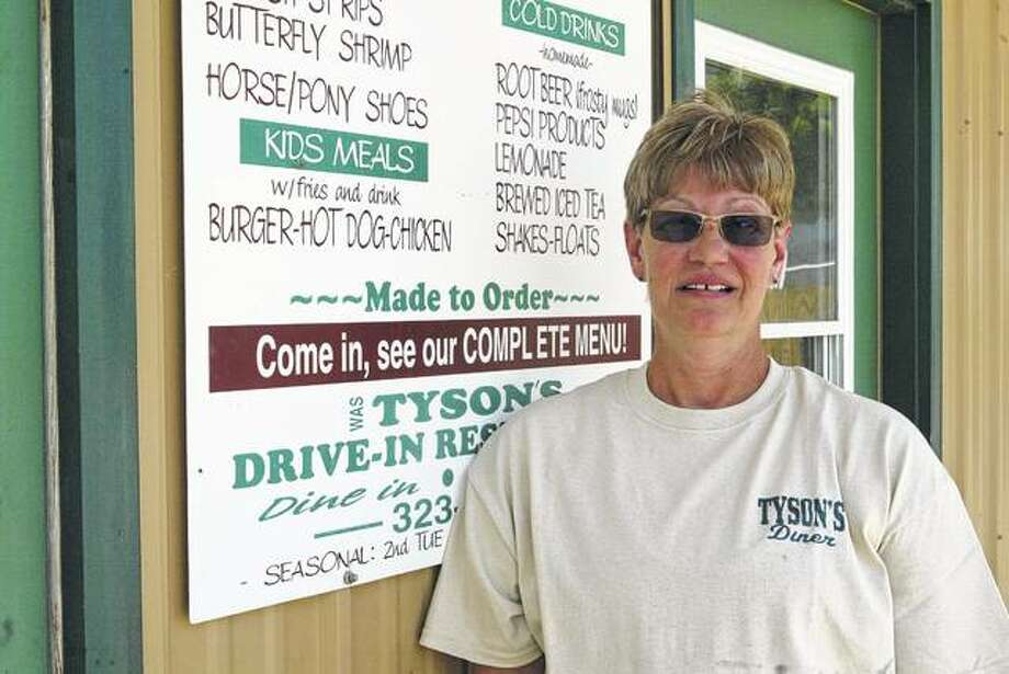 Susan Campbell stands outside Tyson's Diner, which she plans to open in the next few weeks in Beardstown.