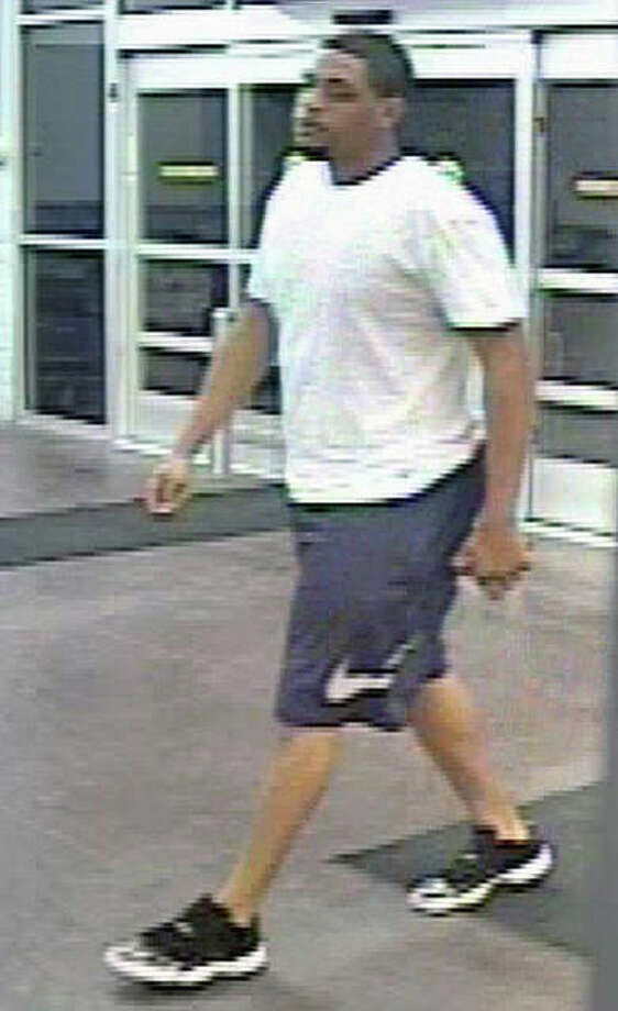 Surveillance camera photo Jacksonville police are trying to identify and locate a man who entered Walmart Supercenter about 5:30 a.m. May 31 and was seen leaving in the dark-colored vehicle.