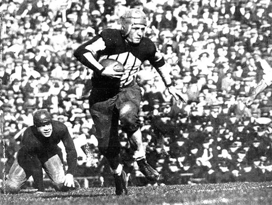 Illini legend Red Grange ran for touchdowns of 95, 67, 56 and 44 yards in 1924 against Michigan at Memorial Stadium in 1924,The Wolverines came into the contest with no losses in the previous 20 games and would finish that season with 25 shutouts over five seasons. Photo: File Photo
