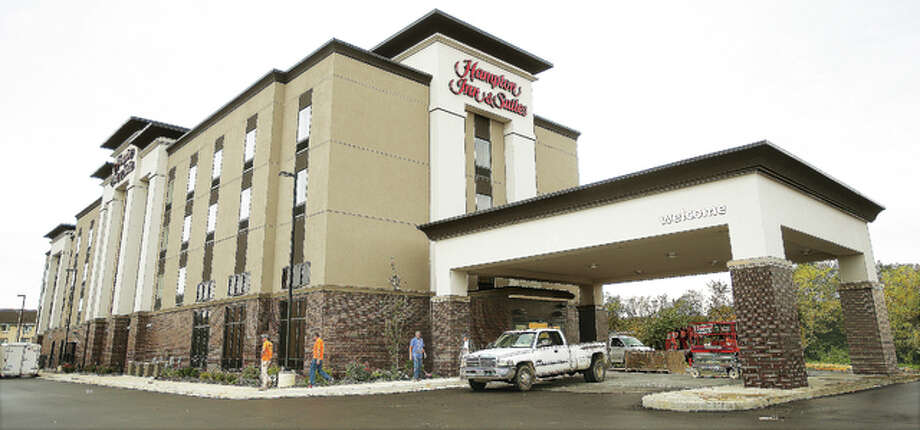 The new Hampton Inn & Suites in Alton has started booking guests for as soon as November, seventh.