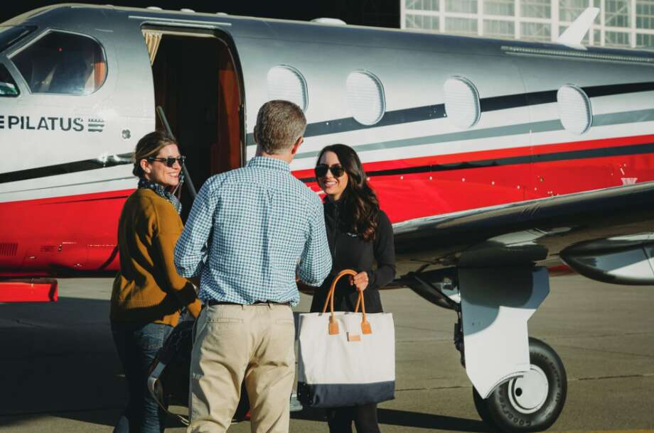 Blackbird uses an 8 passenger Pilatus PC-12 on flights between Palo Alto and Santa Monica- one way fares start at $375 Photo: Blackbird