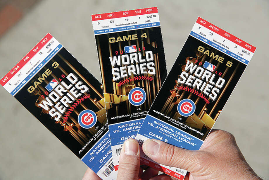 Tickets for World Series games at Wrigley Field are drawing unheard-of prices as Cubs fans clamor for the team's first World Series championship since 1908. Photo: AP