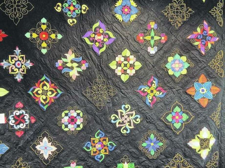 Various shapes and patterns draw attention to a quilt by LaVerne Roy. Photo: Jeannie Hemphill | Reader Photo