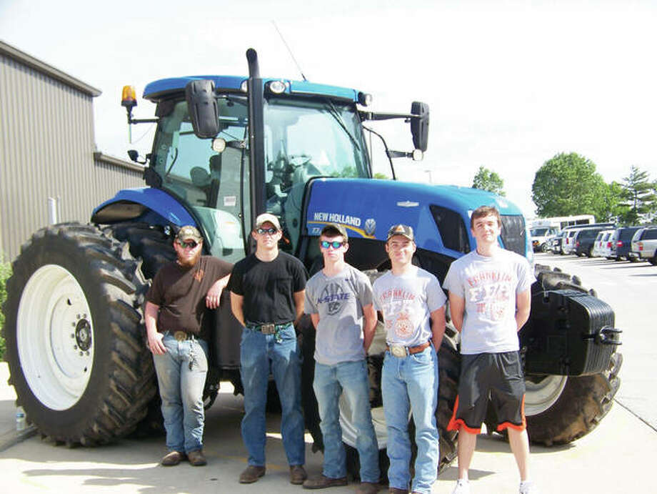 Members of the Franklin FFA Agriculture Mechanics team recently competed in the state FFA Agriculture Mechanics contest at Parkland College. Team members include: Jacob Wilson (from left), carpentry; Joshua Wilson, welding; Marcus Richards, agriculture power; Colin Tillery, who finished in seventh place in the electricity competition; and Adam Morris, who placed fifth in surveying. The team placed 11th out of 25 teams overall.