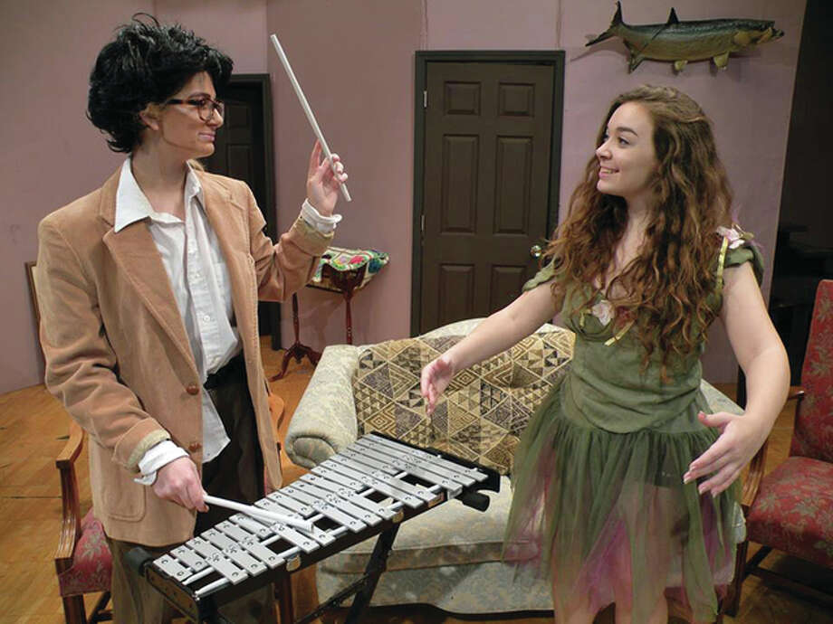 Edward and Essie Carmichael (played by Samantha Moore and Emma Mattix-Wand) prepare for their daily xylophone and ballet event. Photo: Submitted Photos