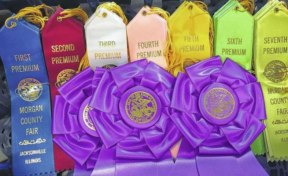 Ribbons wait to be placed after flower judging at the Morgan County Fair. Photo: Joy Harris | Reader Photo