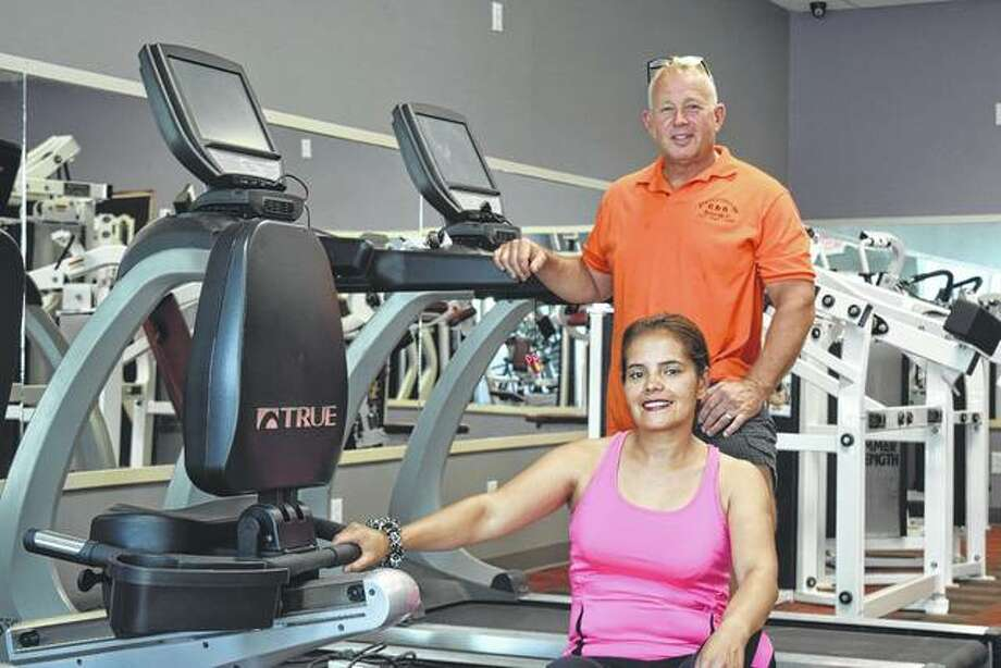 "Waverly Fitness Center is scheduled to open in September in the former Waverly IGA grocery store building. The owners — Sandra (front) and Al Bailey — said the fitness center will ""be a nice addition"" to their bed and breakfast business, The State Street Inn."
