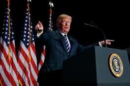 President Donald Trump speaks during the National Prayer Breakfast, Thursday, Feb. 8, 2018, in Washington. (AP Photo/Evan Vucci)