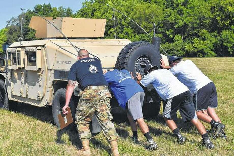 Soldiering on: Football players undergo military-style training