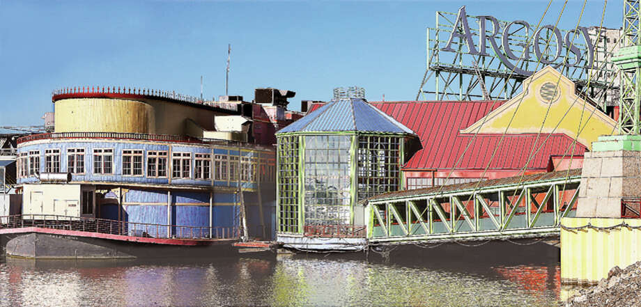 The Argosy Casino sitting on the Alton Riverfront this week. The casino posted the largest admission drop of all Illinois riverboats in fiscal year 2016, according to a recent report by a state commission