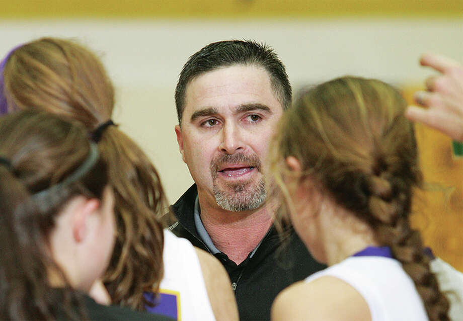 Civic Memorial girls basketball coach Jonathan Denney got career victory No. 200 with the first of two wins Saturday at the Salem Tournament. Photo: Telegraph File Photo