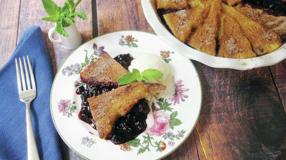 Blueberry pie with a cinnamon French toast crust makes for an easy but flavorful dessert — or breakfast. Photo: Sara Moulton | Associated Press