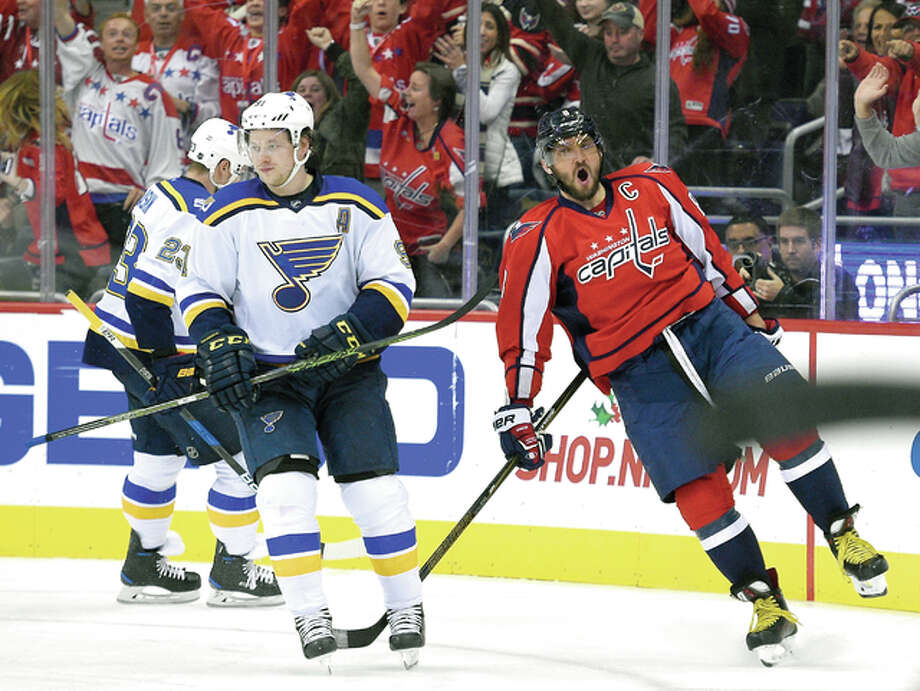 31c50122864 Ovechkin s 16th hat trick lifts Caps over Blues - Alton Telegraph