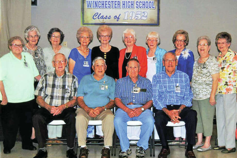 Members of the Winchester High School Class of 1952 recently gathered for their 65th anniversary reunion. Photo: Photo Provided
