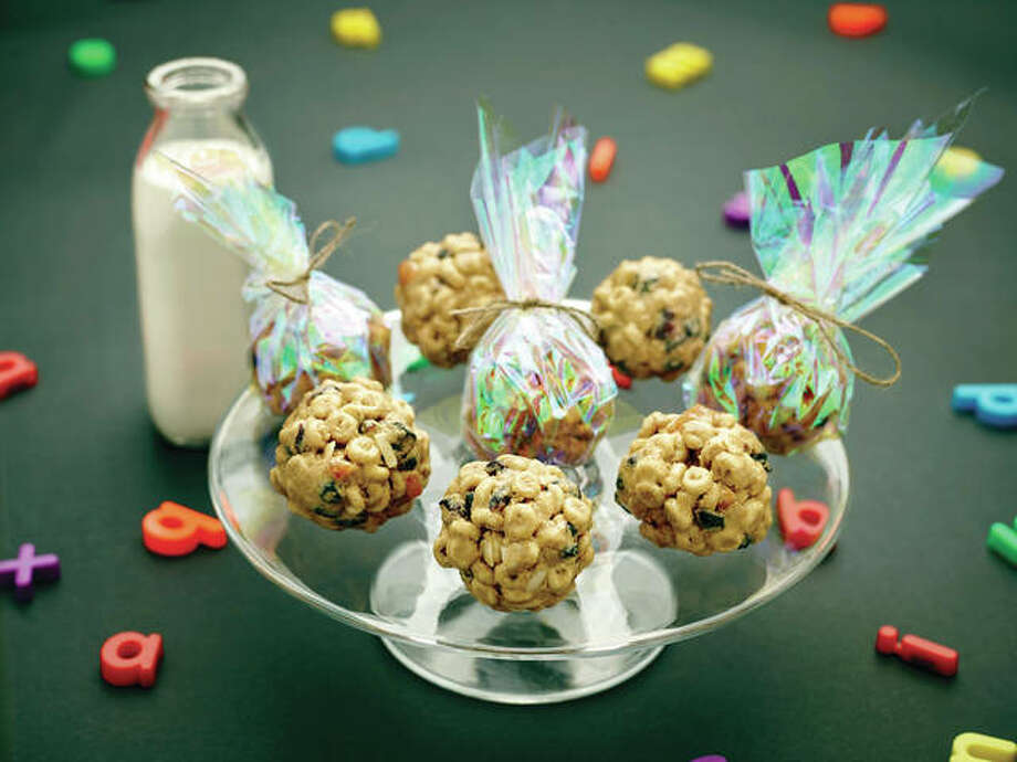 On-the-go cereal balls are quick to make and easy for students to grab on their way out the door to their first class of the day. They also can be as healthy — or not — as one chooses to make them. Photo: Phil Mansfield | The Culinary Institute Of America | AP