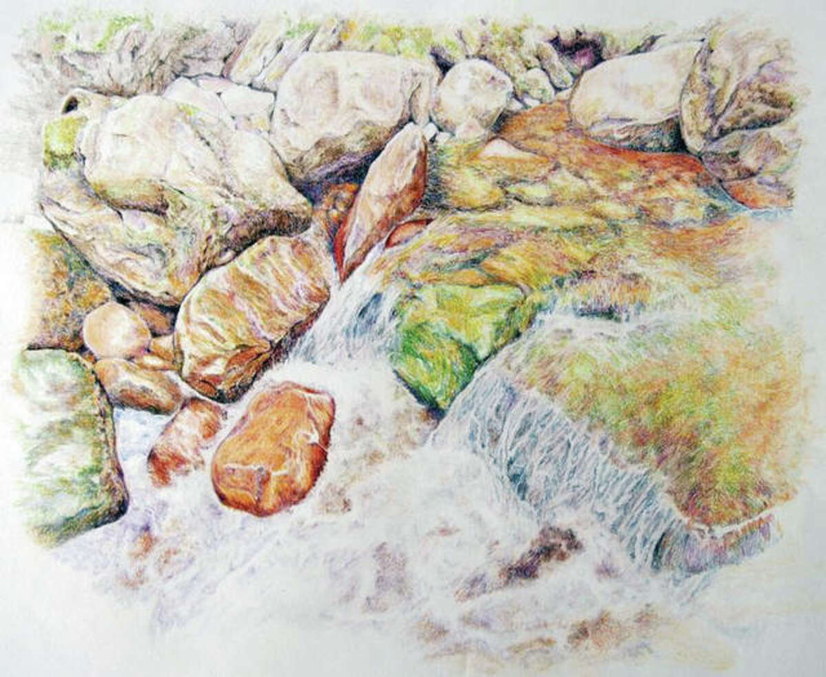 """L.A. Fuller's """"Rushing Waters"""" will be part if the """"On the Move"""" exhibit opening Monday at the James S. Murray Gallery on Lincoln Land Community College's Springfield campus."""