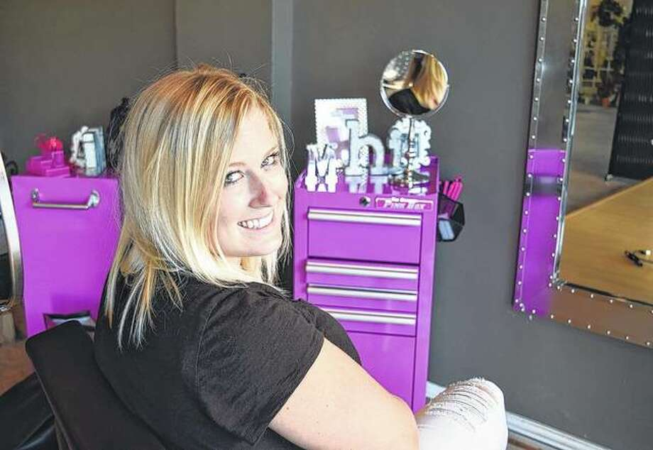 Allyssa VanMeter of White Hall sits in the new salon — Meraki Hair & Nails — that she and Manda Martin of Jacksonville will open Sept. 1 at 229 S. Main St. Photo: Greg Olson | Journal-Courier
