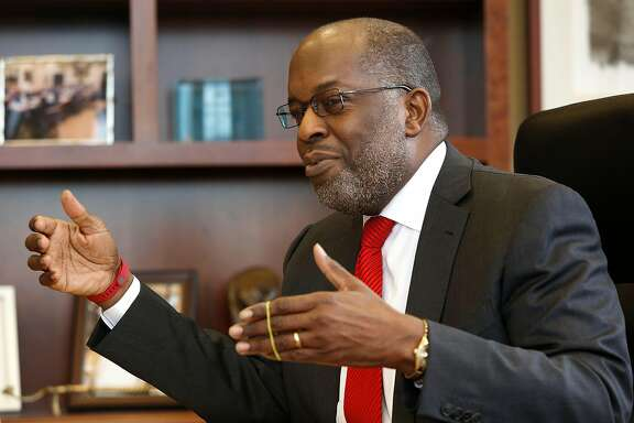 CEO Bernard Tyson of Kaiser Permanente speaks during an interview at his office in Oakland, Calif., on Monday, January 26, 2015.