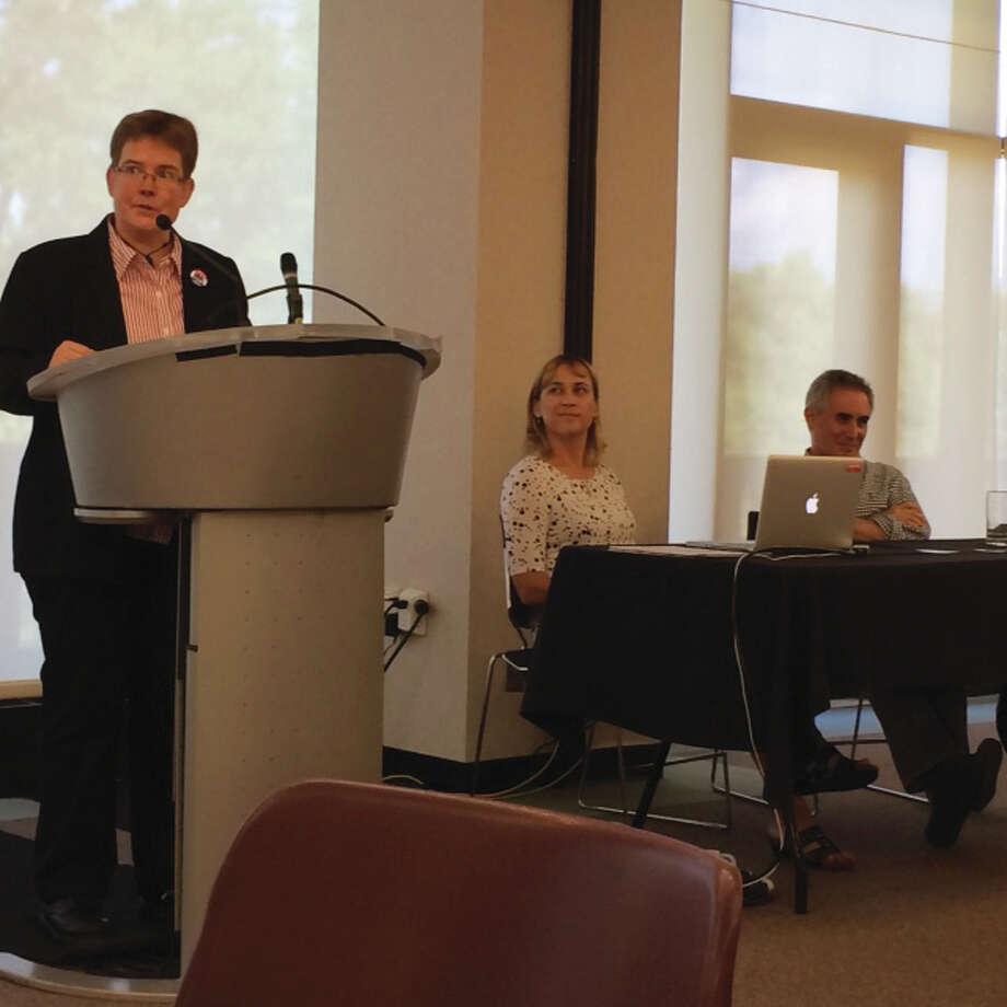 The Illinois Educational Labor Relations Board certified this week the SIUE Faculty Association-IEA/NEA as the exclusive bargaining representative for some 400 tenured and tenure track faculty Southern Illinois University Edwardsville. Leaders are pictured answering questions during the campaign. Photo: For The Telegraph
